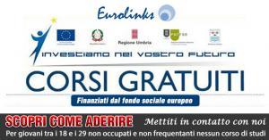 Corsi gratuiti per i giovani disoccupati  presso Eurolinks ad Amelia Terni Umbria